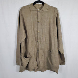 FLAX Long Sleeve Button Down•Size S•